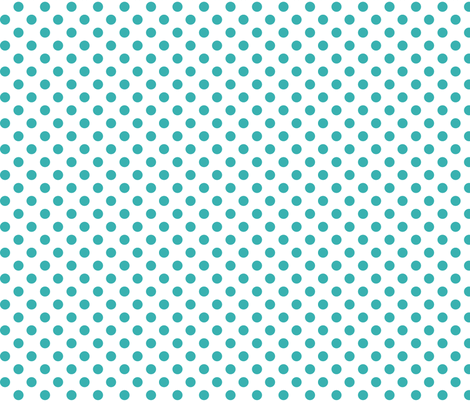 polka dots teal fabric by misstiina on Spoonflower - custom fabric
