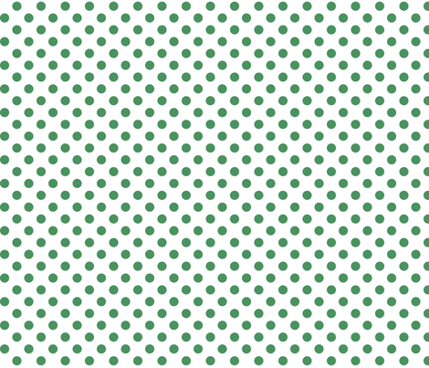 polka dots green and white