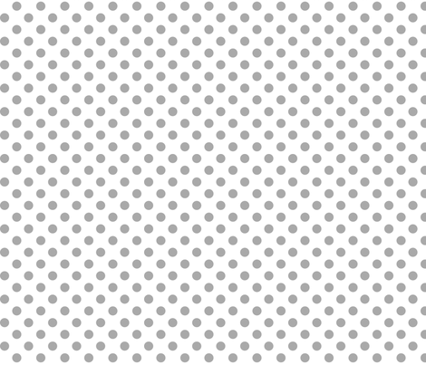 polka dots grey and white fabric by misstiina on Spoonflower - custom fabric