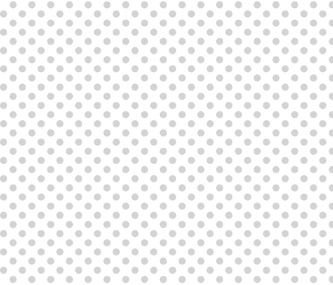 polka dots light grey and white fabric by misstiina on Spoonflower - custom fabric