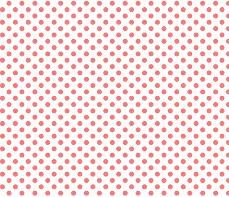 polka dots coral and white misstiina spoonflower