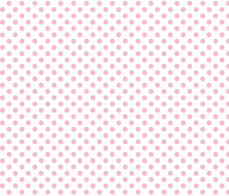polka dots light pink and white fabric by misstiina on Spoonflower - custom fabric