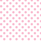 polka dots light pink and white