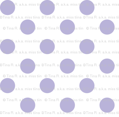 polka dots light purple and white