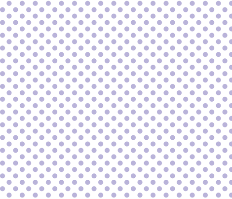 polka dots light purple and white fabric by misstiina on Spoonflower - custom fabric