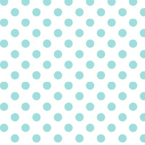 polka dots light teal