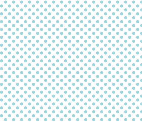 polka dots teal and white fabric by misstiina on Spoonflower - custom fabric