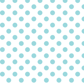 polka dots teal and white