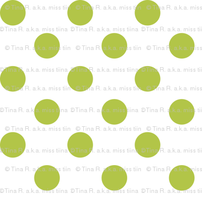 polka dots lime green