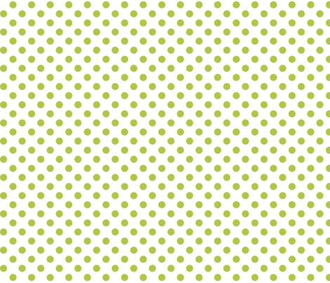 polka dots lime green and white fabric by misstiina on Spoonflower - custom fabric
