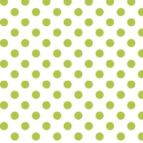 polka dots lime green and white