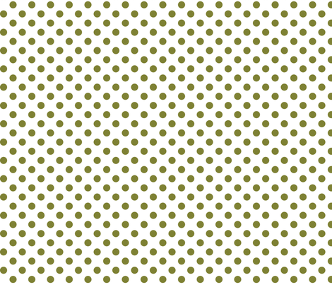 polka dots olive green and white fabric by misstiina on Spoonflower - custom fabric