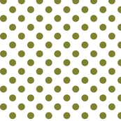 polka dots olive green and white