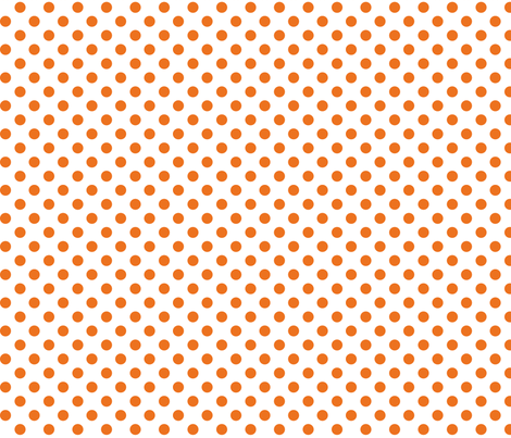 polka dots orange and white fabric by misstiina on Spoonflower - custom fabric