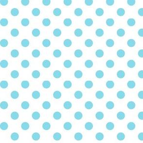 polka dots sky blue