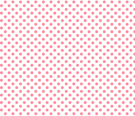 polka dots pretty pink and white fabric by misstiina on Spoonflower - custom fabric
