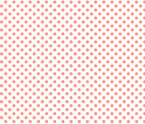 polka dots peach fabric by misstiina on Spoonflower - custom fabric