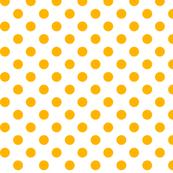 polka dots pumpkin orange and white