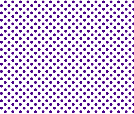polka dots purple and white