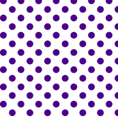 polka dots purple and white