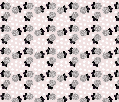 Pink-Grey__Cluster fabric by kberman on Spoonflower - custom fabric