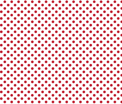 polka dots red and white fabric by misstiina on Spoonflower - custom fabric