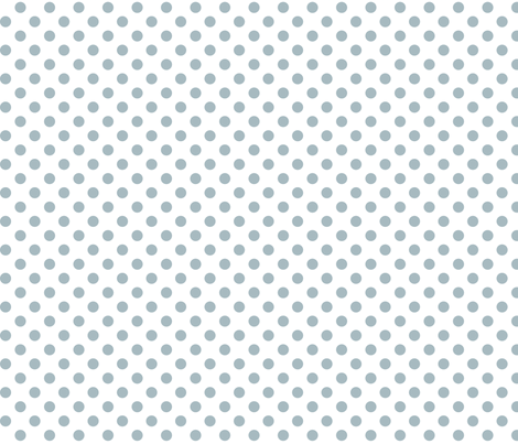 polka dots slate blue and white fabric by misstiina on Spoonflower - custom fabric