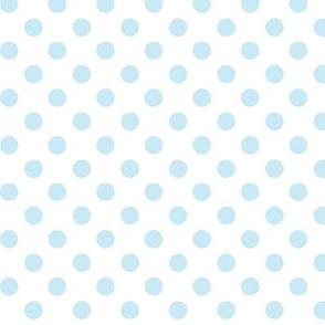 polka dots ice blue