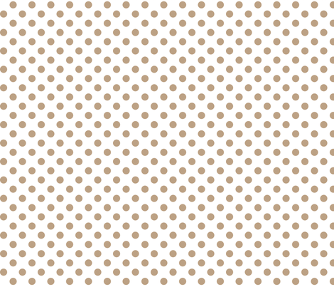 polka dots tan fabric by misstiina on Spoonflower - custom fabric