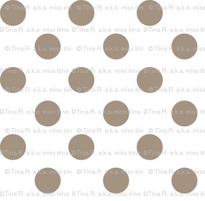 polka dots tan and white