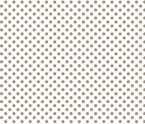 polka dots tan and white fabric by misstiina on Spoonflower - custom fabric