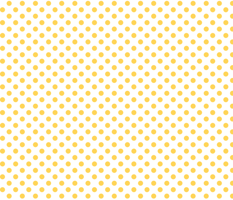 polka dots yellow and white fabric by misstiina on Spoonflower - custom fabric