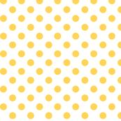 polka dots yellow and white