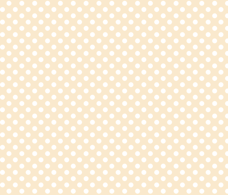 polka dots 2 ivory fabric by misstiina on Spoonflower - custom fabric
