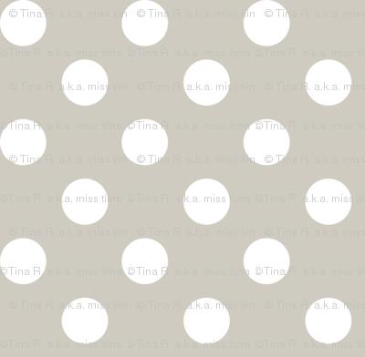polka dots 2 beige and white