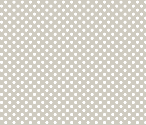 polka dots 2 beige and white fabric by misstiina on Spoonflower - custom fabric