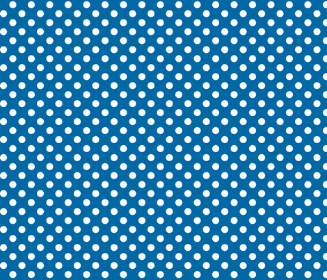 polka dots 2 blue and white