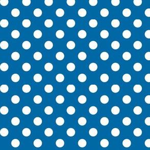 polka dots 2 royal blue