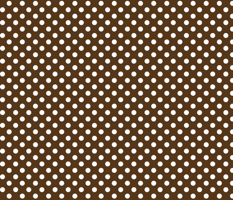 polka dots 2 brown fabric by misstiina on Spoonflower - custom fabric