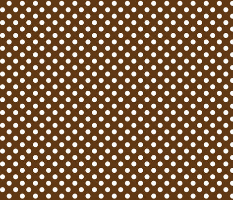 polka dots 2 brown and white fabric by misstiina on Spoonflower - custom fabric