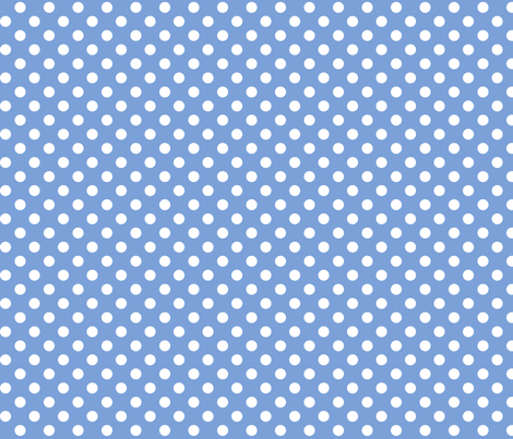 polka dots 2 cornflower blue and white fabric by misstiina on Spoonflower - custom fabric