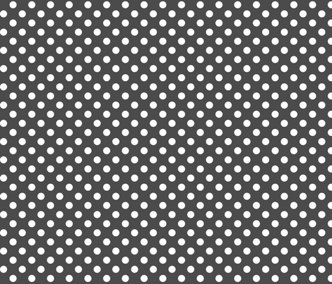 polka dots 2 dark grey and white fabric by misstiina on Spoonflower - custom fabric