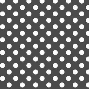 polka dots 2 dark grey
