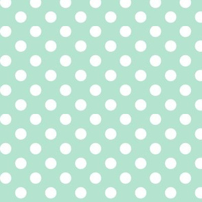 polka dots 2 mint green