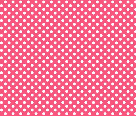polka dots 2 hot pink fabric by misstiina on Spoonflower - custom fabric