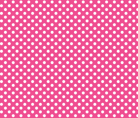 polka dots 2 dark pink and white fabric by misstiina on Spoonflower - custom fabric