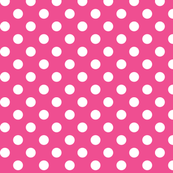 polka dots 2 dark pink and white