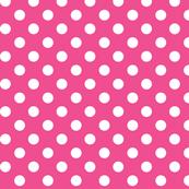polka dots 2 dark pink and white