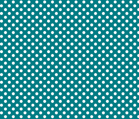 polka dots 2 dark teal and white