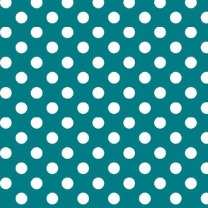 polka dots 2 dark teal